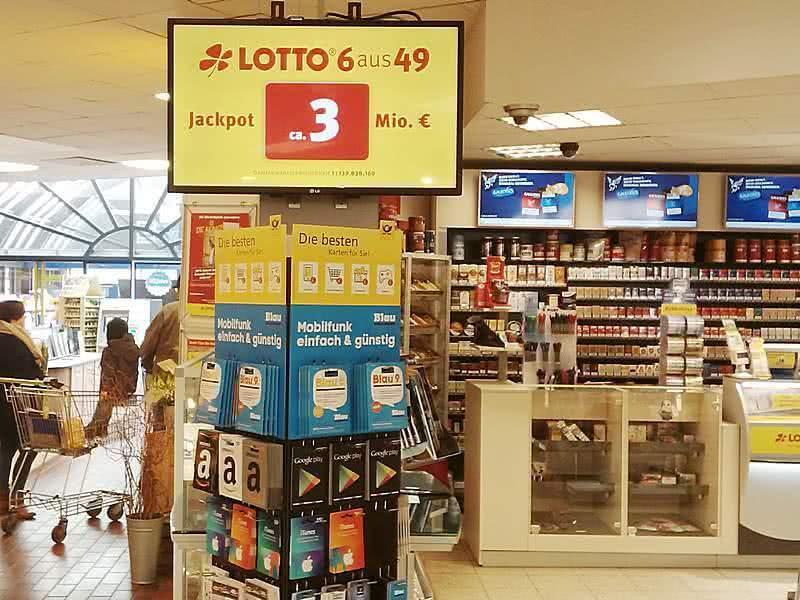 Lotto Info Terminal im Einzelhandel