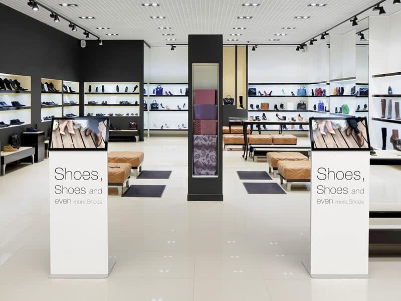 Infoterminals im Einzelhandel