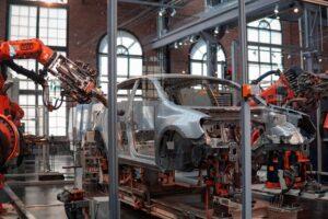 Produktionshalle von Autos Industrie 4.0