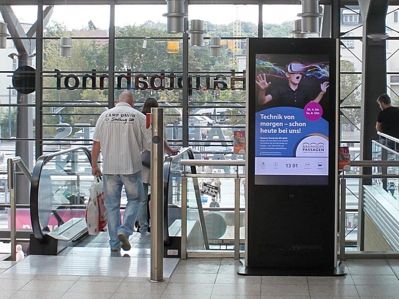Phex Stand Stele im Einkaufszentrum