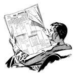 Mann ließt Zeitung