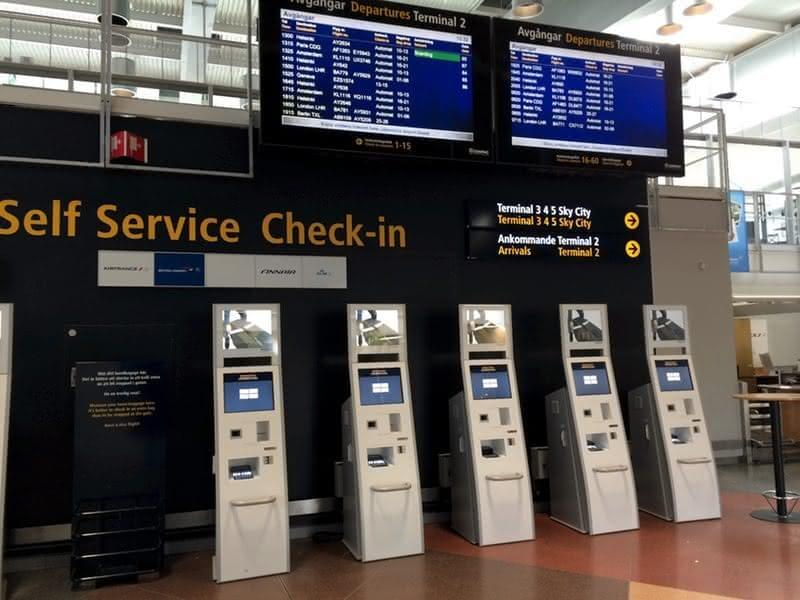 self-service check in airport