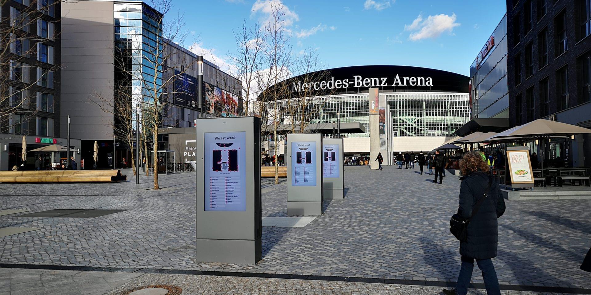 Mercedes Benz Arena Digital Signage by eKiosk