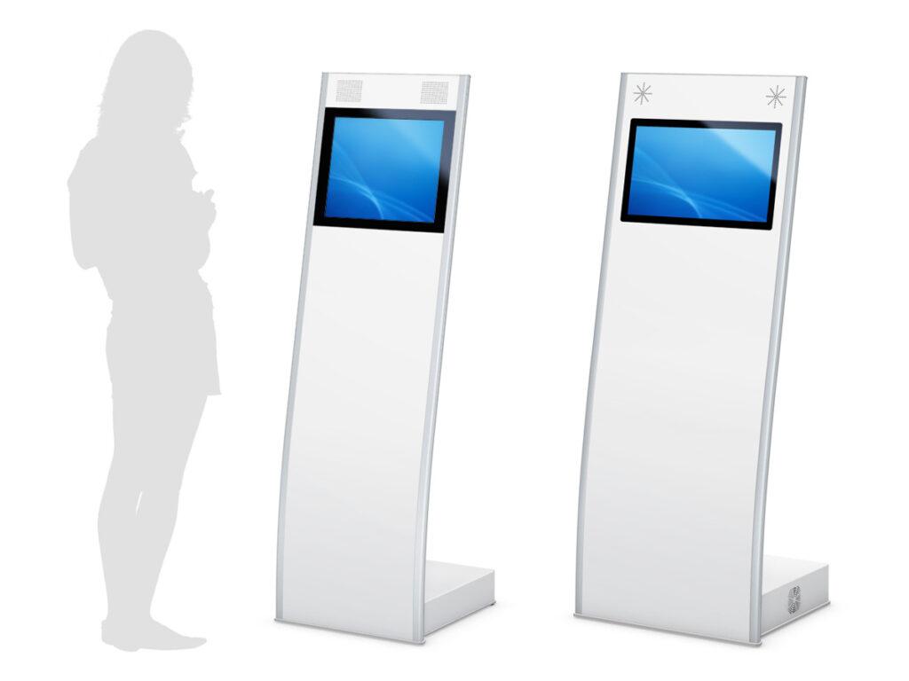 ISIS - Digitales Terminal in weiß mit Querformatdisplay von eKiosk