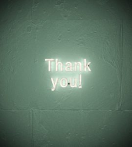 Thank you in neonlights