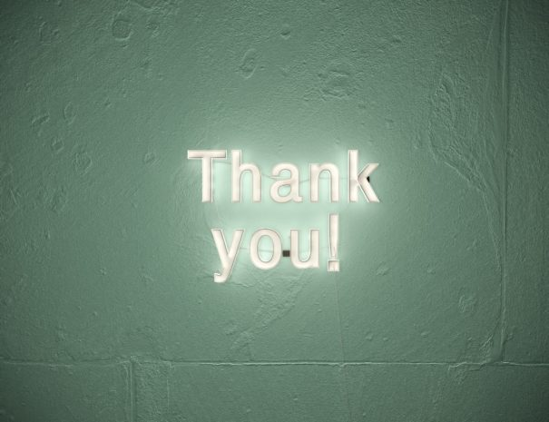 Thank you with neonlights