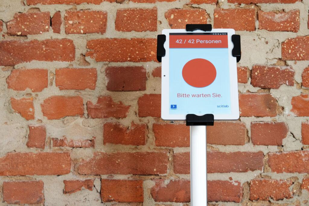 """Livi-Lite 10"""" Tablet Kundenfrequenzmessung"""