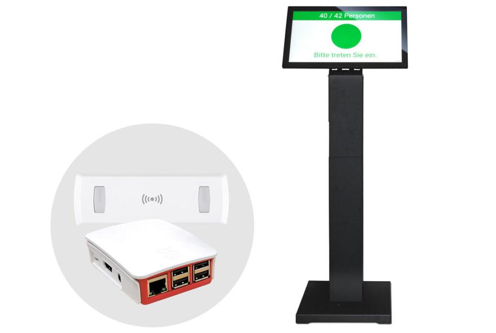 """Livi-Lite 22"""" Tablet mit Ständer Kundenfrequenzmessung"""