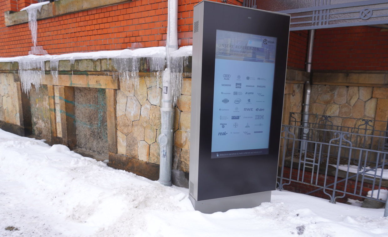 Digital Signage im Winter